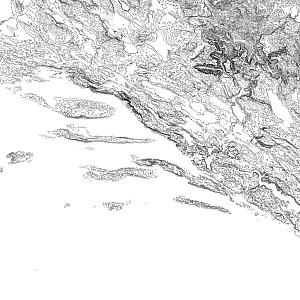 Dalmatia contour
