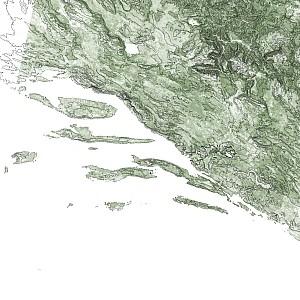 Dalmatia topomap